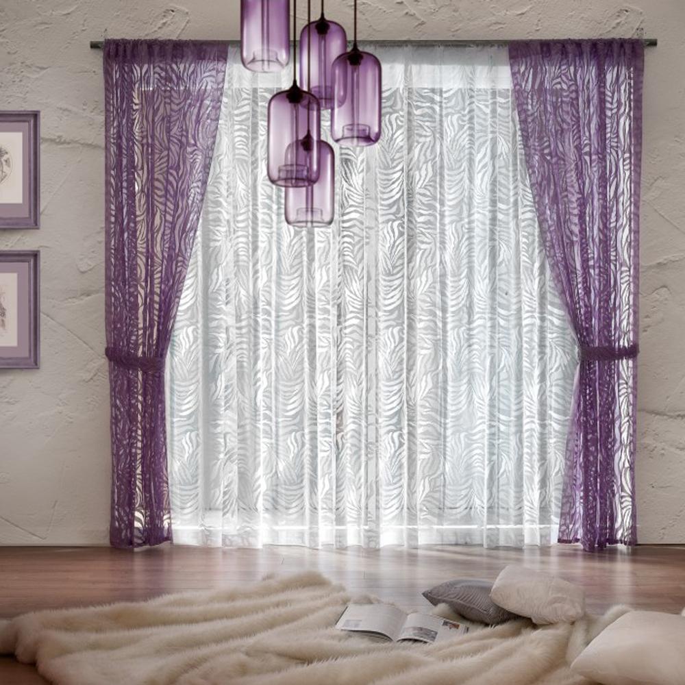 Комплект штор Wisan Adelajda, на ленте, цвет: белый, фиолетовый, высота 250 смS03301004Комплект штор Wisan Adelajda выполненный из полиэстера, великолепно украсит любое окно. В комплект входят 2 шторы, тюль и 2 подхвата.Интересный крой, и оригинальный узор придают комплекту особый стиль и шарм. Тонкое плетение, нежная цветовая гамма и роскошное исполнение - все это делает шторы Wisan Adelajda замечательным дополнением интерьера помещения.Комплект оснащен шторной лентой для красивой сборки. В комплект входит: Штора - 2 шт. Размер (ШхВ): 140 см х 250 см. Тюль - 1 шт. Размер (ШхВ): 400 см х 250 см. Подхват - 2 шт.Фирма Wisan на польском рынке существует уже более пятидесяти лет и является одной из лучших польских фабрик по производству штор и тканей. Ассортимент фирмы представлен готовыми комплектами штор для гостиной, детской, кухни, а также текстилем для кухни (скатерти, салфетки, дорожки, кухонные занавески). Модельный ряд отличает оригинальный дизайн, высокое качество. Ассортимент продукции постоянно пополняется.