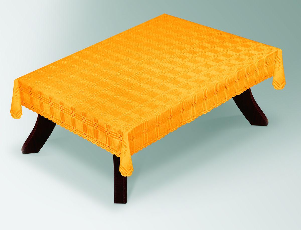 Скатерть Haft Gold Line, прямоугольная, цвет: желтый, 100x 150 см. 203490/100VT-1520(SR)Великолепная прямоугольная скатерть Haft Gold Line, выполненная из полиэстера, органично впишется в интерьер любого помещения, а оригинальный дизайн удовлетворит даже самый изысканный вкус. Скатерть изготовлена из сетчатого материала с ажурным геометрическим рисунком. Края скатерти ажурные.Скатерть Haft Gold Line создаст праздничное настроение и станет прекрасным дополнением интерьера гостиной, кухни или столовой.