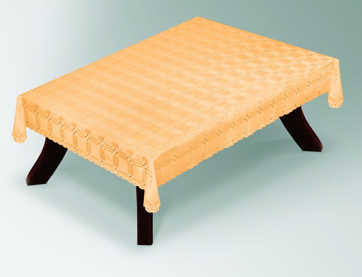 Скатерть Haft Gold Line, прямоугольная, цвет: лососевый, 100x 150 см. 203490/100SVC-300Великолепная прямоугольная скатерть Haft Gold Line, выполненная из полиэстера, органично впишется в интерьер любого помещения, а оригинальный дизайн удовлетворит даже самый изысканный вкус. Скатерть изготовлена из сетчатого материала с ажурным геометрическим рисунком. Края скатерти ажурные.Скатерть Haft Gold Line создаст праздничное настроение и станет прекрасным дополнением интерьера гостиной, кухни или столовой.