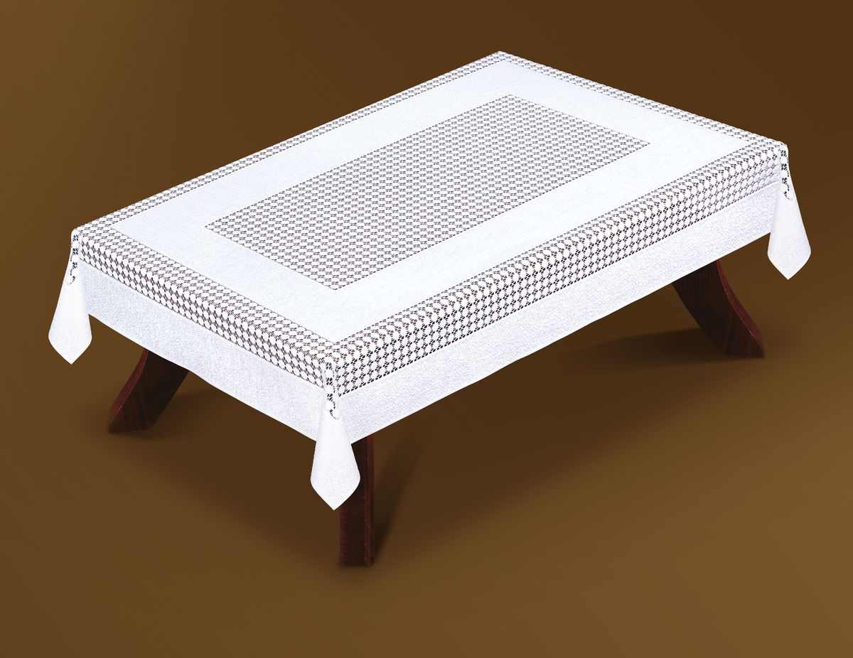 Скатерть Haft Gold Line, прямоугольная, цвет: белый, 120x 160 см. 207550/120200510-120 шоколадВеликолепная прямоугольная скатерть Haft Gold Line, выполненная из полиэстера, органично впишется в интерьер любого помещения, а оригинальный дизайн удовлетворит даже самый изысканный вкус. Скатерть изготовлена из сетчатого материала с ажурным рисунком. Скатерть Haft Gold Line создаст праздничное настроение и станет прекрасным дополнением интерьера гостиной, кухни или столовой.