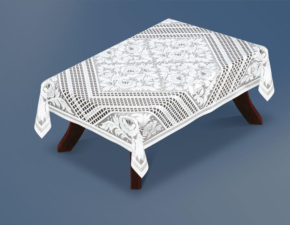 Скатерть Haft Silver Line, прямоугольная, цвет: белый, 120x 160 см. 221330/120VT-1520(SR)Великолепная прямоугольная скатерть Haft Silver Line, выполненная из полиэстера, органично впишется в интерьер любого помещения, а оригинальный дизайн удовлетворит даже самый изысканный вкус. Скатерть изготовлена из сетчатого материала с ажурным цветочным рисунком.Скатерть Haft Silver Line создаст праздничное настроение и станет прекрасным дополнением интерьера гостиной, кухни или столовой.