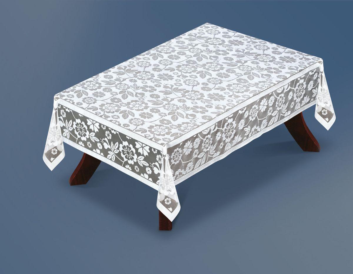 Скатерть Haft Silver Line, прямоугольная, цвет: белый, 120x 160 см. 221410/120VT-1520(SR)Великолепная прямоугольная скатерть Haft Silver Line, выполненная из полиэстера, органично впишется в интерьер любого помещения, а оригинальный дизайн удовлетворит даже самый изысканный вкус. Скатерть изготовлена из сетчатого материала с ажурным цветочным рисунком.Скатерть Haft Silver Line создаст праздничное настроение и станет прекрасным дополнением интерьера гостиной, кухни или столовой.