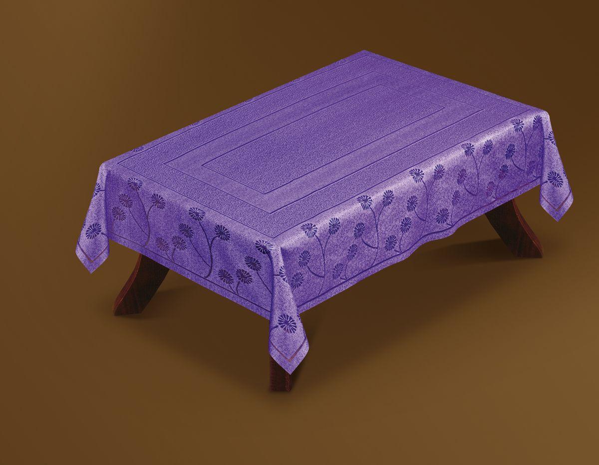 Скатерть Haft Gold Line, прямоугольная, цвет: фиолетовый, 100x 160 см. 221570/100202600-120Великолепная прямоугольная скатерть Haft Gold Line, выполненная из полиэстера, органично впишется в интерьер любого помещения, а оригинальный дизайн удовлетворит даже самый изысканный вкус. Скатерть изготовлена из сетчатого материала с ажурным цветочным рисунком по краям. Скатерть Haft Gold Line создаст праздничное настроение и станет прекрасным дополнением интерьера гостиной, кухни или столовой.