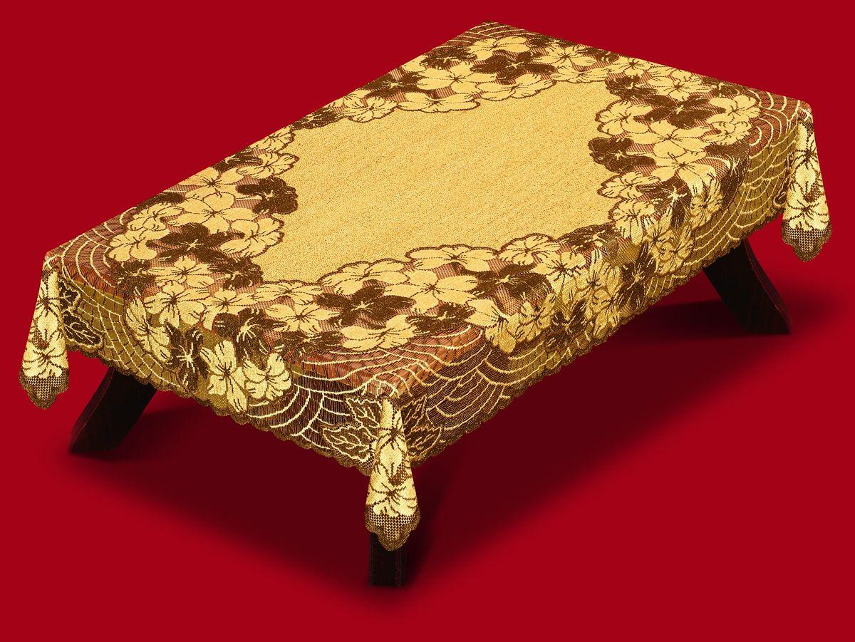 Скатерть Haft, прямоугольная, цвет: кофейный, коричневый, 150x 250 см. 42010-150212130/150Великолепная прямоугольная скатерть Haft, выполненная из полиэстера, органично впишется в интерьер любого помещения, а оригинальный дизайн удовлетворит даже самый изысканный вкус. Скатерть изготовлена из сетчатого материала с ажурным цветочным орнаментом. Края скатерти ажурные.Скатерть Haft создаст праздничное настроение и станет прекрасным дополнением интерьера гостиной, кухни или столовой.