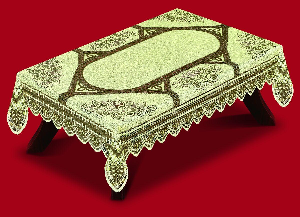Скатерть Haft, прямоугольная, цвет: светло-оливковый, 100x 150 см. 42250-100200810-130Великолепная прямоугольная скатерть Haft, выполненная из полиэстера, органично впишется в интерьер любого помещения, а оригинальный дизайн удовлетворит даже самый изысканный вкус. Скатерть изготовлена из сетчатого материала с ажурным цветочным орнаментом. Края скатерти ажурные.Скатерть Haft создаст праздничное настроение и станет прекрасным дополнением интерьера гостиной, кухни или столовой.