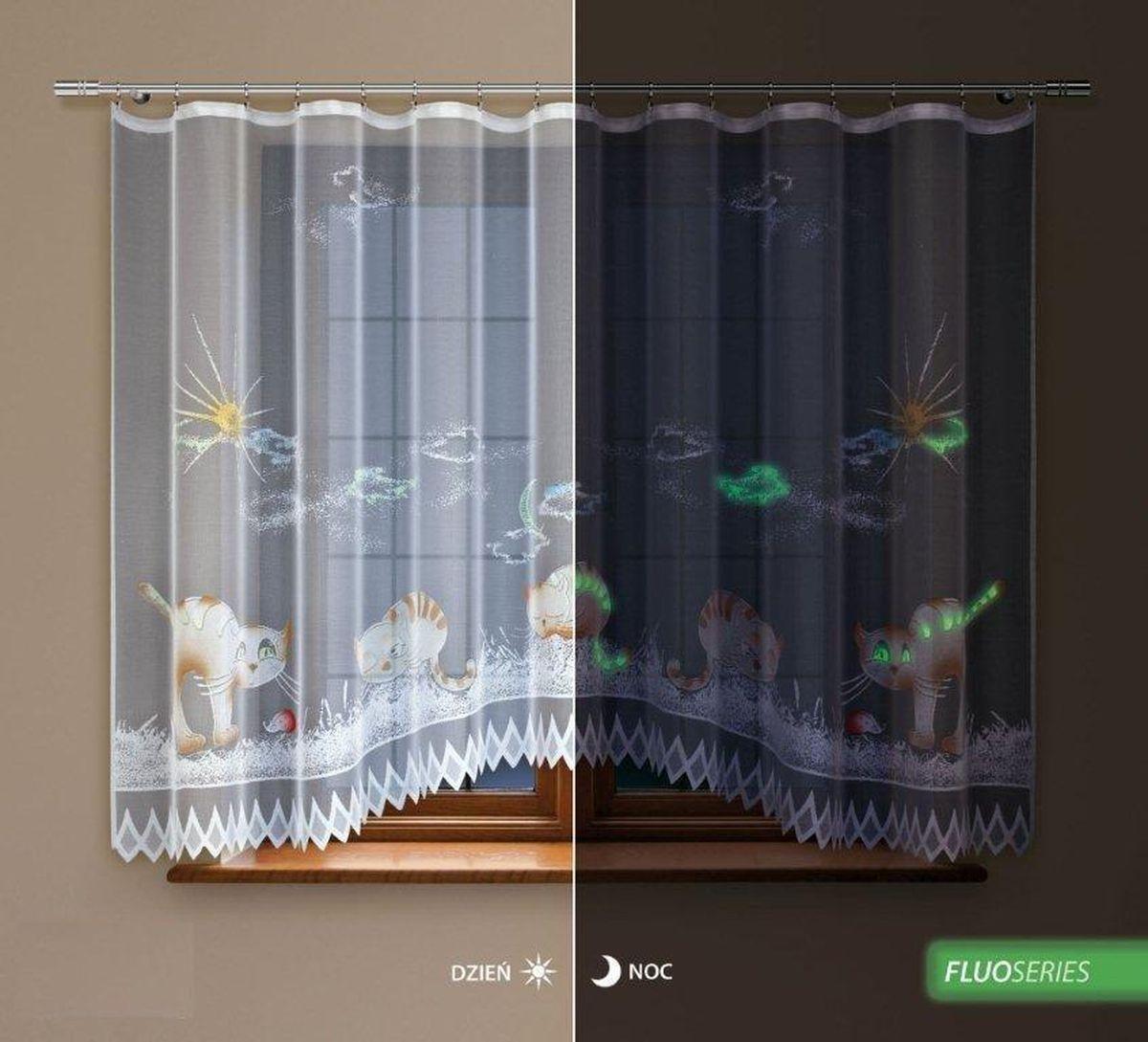Гардина Haft Silver Line, флуоресцентная, цвет: белый, высота 160 см. 218440/160с 3248 w191w191 v12Гардина Haft Silver Line изготовлена из полиэстера. Изделие выполнено из сетчатого материала и украшено рисунком ручной раскраски, который светится ночью. Оригинальный дизайн и приятная цветовая гамма привлекут к себе внимание и органично впишутся в интерьер кухни. Оригинальное оформление гардины внесет разнообразие и подарит заряд положительного настроения. Гардина оснащена шторной лентой для красивой сборки.Размер гардины: 300 см х 160 см. Главный ассортимент компании Haft - это тюль и занавески. Haft предлагает готовые решения для ваших окон, выпуская готовые наборы штор, которые остается только распаковать и повесить. Модельный ряд отличает оригинальный дизайн, высокое качество. Занавески, шторы, гардины Haft долговечны, прочны, практически не сминаемы, они не притягивают пыль и за ними легко ухаживать. Вся продукция бренда Haft выполнена на современном оборудовании из лучших материалов.