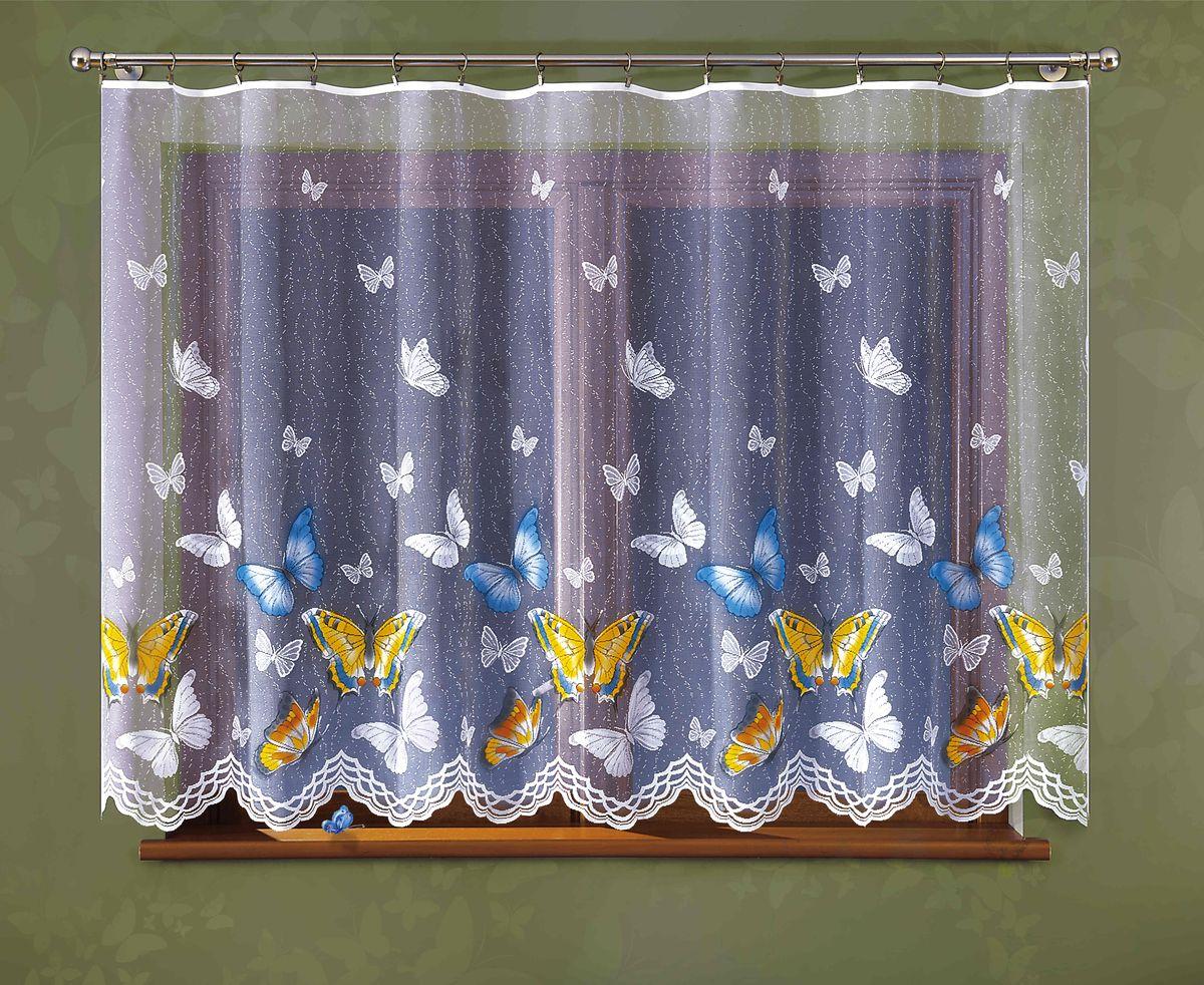 Гардина Wisan Motyle, цвет: белый, высота 150 см307ЕГардина Wisan Motyle великолепно украсит любое окно в гостиной, спальне или на кухне. Изделие выполнено из полиэстера и украшено изящным изображением разноцветных бабочек. Тонкое плетение, нежная цветовая гамма и роскошное исполнение - все это делает гардину Wisan Motyle замечательным дополнением интерьера комнаты.В комплект входит: Гардина - 1 шт. Размер (ШхВ): 300 см х 150 см.