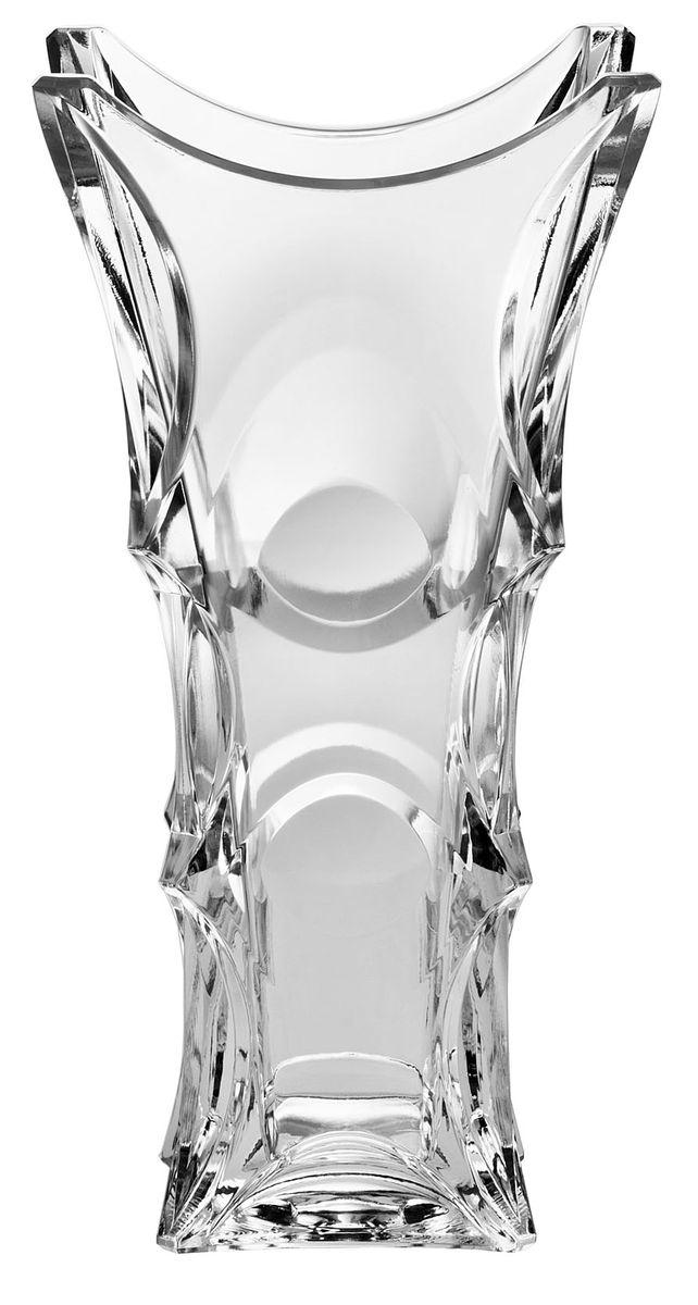 Ваза Crystal Bohemia X-Lady, высота 30 см114542Ваза Crystal Bohemia X-Lady выполнена из прочного высококачественного хрусталя и декорирована рельефом. Она излучает приятный блеск и издает мелодичный звон. Ваза сочетает в себе изысканный дизайн с максимальной функциональностью. Ваза не только украсит дом и подчеркнет ваш прекрасный вкус, но и станет отличным подарком.Высота: 30 см.Размер по верхнему краю: 15 см х 15 см.Размер основания: 9,5 см х 9,5 см.