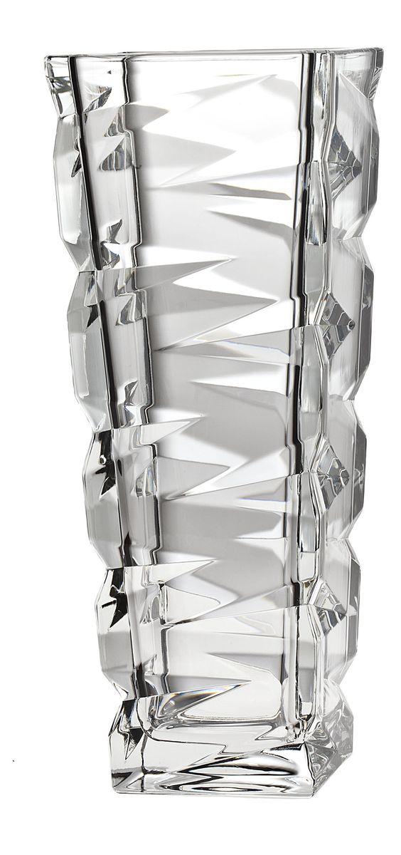 Ваза Crystal Bohemia, высота 31,5 см92-025 СИРВаза Crystal Bohemia выполнена из прочного высококачественного хрусталя и декорирована рельефом. Она излучает приятный блеск и издает мелодичный звон. Ваза сочетает в себе изысканный дизайн с максимальной функциональностью. Ваза не только украсит дом и подчеркнет ваш прекрасный вкус, но и станет отличным подарком.Высота: 31,5 см.Размер по верхнему краю: 12 см х 12 см.Размер основания: 8,5 см х 8,5 см.