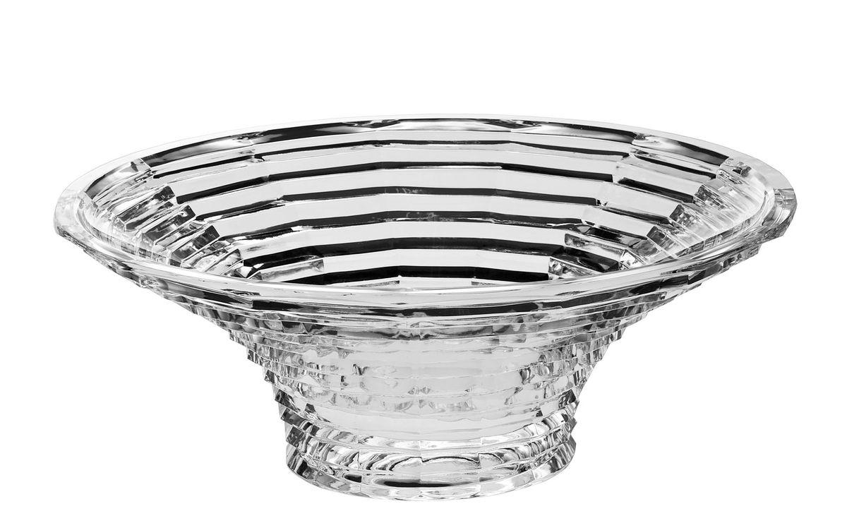 Салатник Crystal Bohemia, диаметр 33 см54 009312Салатник Crystal Bohemia изготовлен из хрусталя и выполнен в форме большой чаши, декорирован рельефом в полоску. Данный салатник сочетает в себе изысканный дизайн с максимальной функциональностью. Он прекрасно впишется в интерьер вашей кухни и станет достойным дополнением к кухонному инвентарю. Такой салатник не только украсит ваш кухонный стол и подчеркнет прекрасный вкус хозяйки, но и станет отличным подарком.Диаметр: 33 см.Высота: 11 см.Диаметр дна: 12 см.