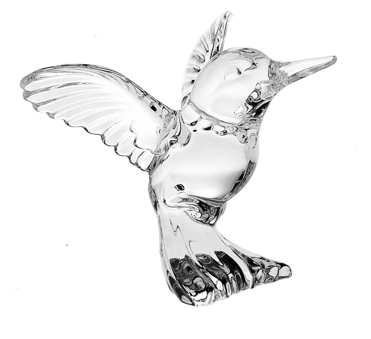 Фигурка декоративная Crystal Bohemia Колибри, высота 8 смNLED-420-1.5W-RДекоративная фигурка Crystal Bohemia Колибри изготовлена из хрусталя и выполнена в виде маленькой птицы колибри. Такая фигурка подойдет для декора интерьера дома или офиса. Вы можете поставить фигурку в любом месте, где она будет удачно смотреться и радовать глаз. Кроме того - это отличный вариант подарка для ваших близких и друзей. Размер фигурки (ДхШхВ): 11,5 см х 9,5 см х 8 см.