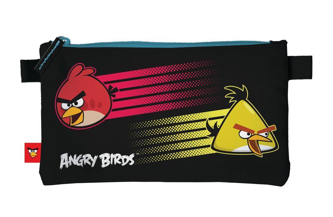 Косметичка. Размер: 22 х 11,5 х 1 см. Angry Birds72523WDОт производителяПенал прямоугольной формы, изготовлен из водонепроницаемого, прочного материала. Он имеет одно отделение на молнии. По бокам есть вшитый материал для того чтобы поддерживать пенал во время его застегивания и растегивания. Цвет: черный. Тип: Мягкий пенал.Пол: Унисекс . Возраст: Средние классы . Материал: Полиэстер, . Упаковка: Пакет.