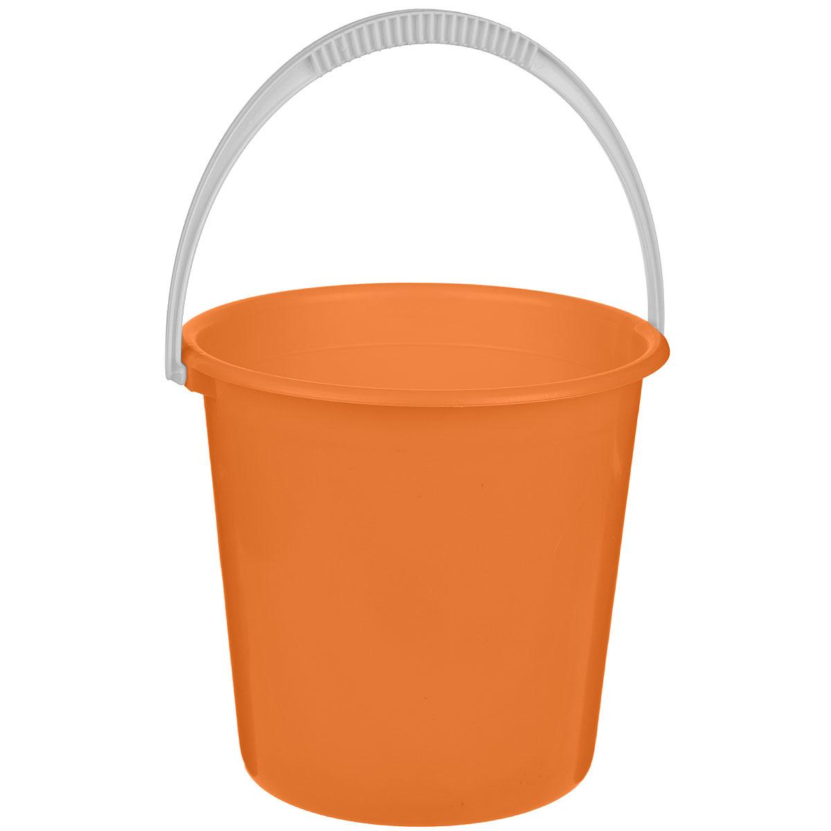 Ведро Альтернатива Крепыш, цвет: оранжевый, 10 лPANTERA SPX-2RSВедро Альтернатива Крепыш изготовлено из высококачественного одноцветного пластика. Оно легче железного и не подвержено коррозии. Ведро оснащено удобной пластиковой ручкой. Такое ведро станет незаменимым помощником в хозяйстве. Диаметр: 28 см.Высота: 27 см.