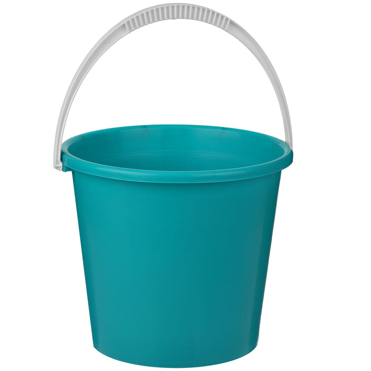 Ведро Альтернатива Крепыш, цвет: бирюзовый, 7 л53730Ведро Альтернатива Крепыш изготовлено из высококачественного одноцветного пластика. Оно легче железного и не подвержено коррозии. Ведро оснащено удобной пластиковой ручкой. Такое ведро станет незаменимым помощником в хозяйстве. Размер: 25 см x 25 см x 22 см.