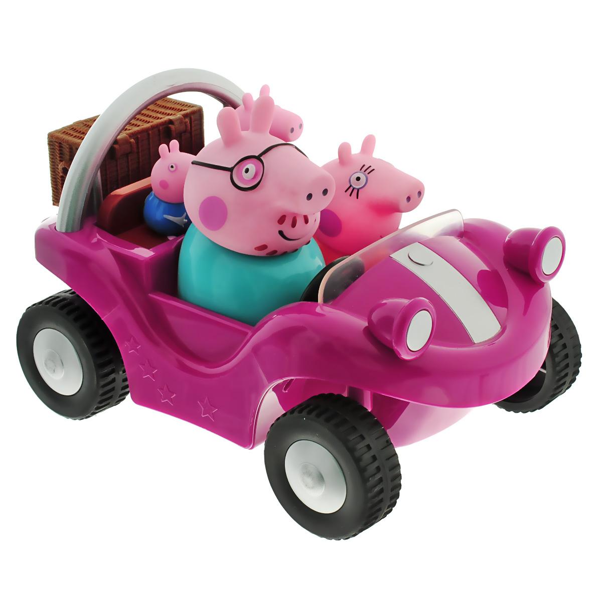 Игрушка Peppa Pig Спортивная машина, цвет: ярко-розовый