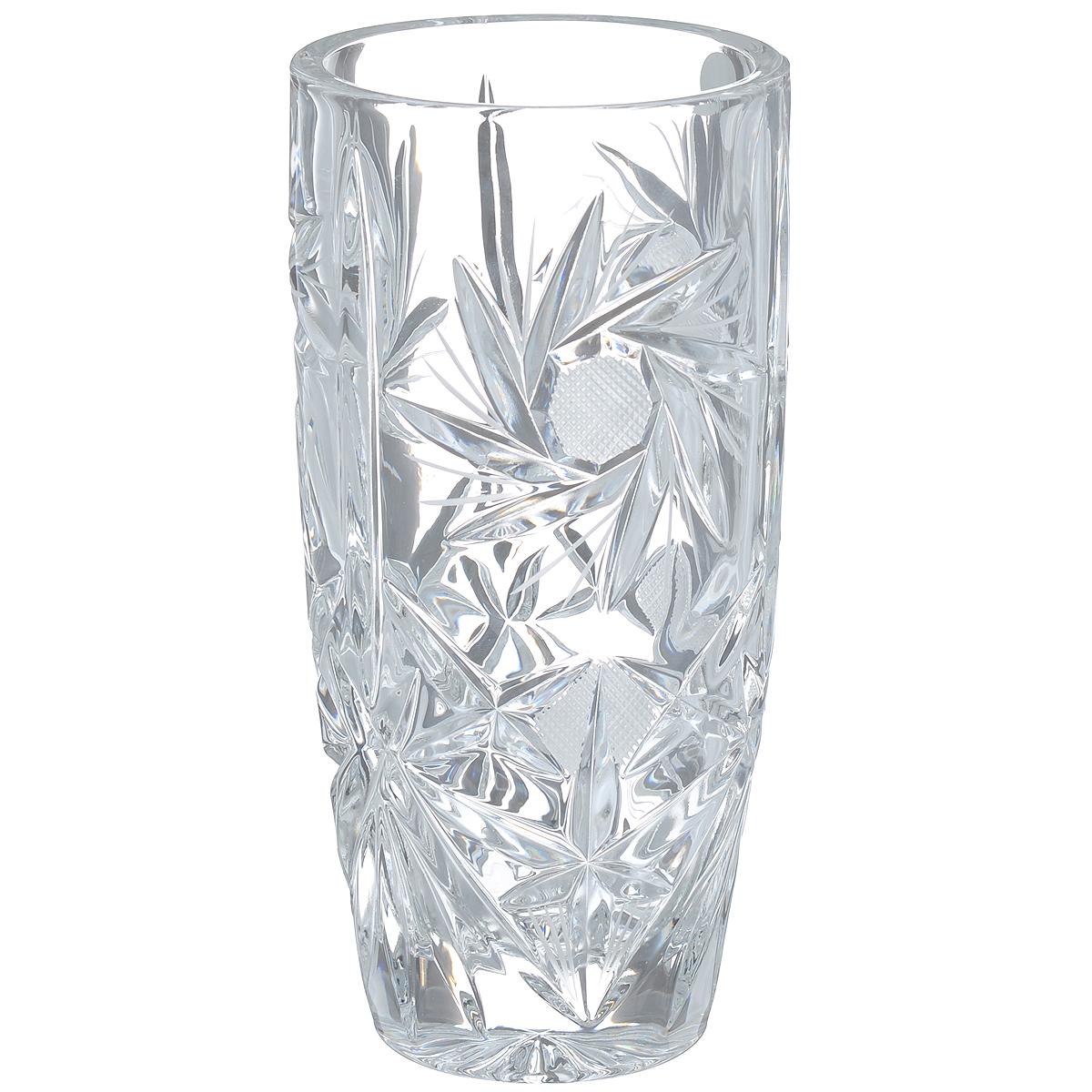 Ваза Crystal Bohemia, высота 20,5 см8KF79/0/99R14/255Изящная ваза Crystal Bohemia изготовлена из хрусталя. Ваза оформленакрасивым рельефным рисунком, что делает ее изящным украшениеминтерьера.Ваза Crystal Bohemia дополнит интерьер офиса или дома и станет желанным истильнымподарком. Высота вазы: 20,5 см.Диаметр вазы (по верхнему краю): 9,5 см.