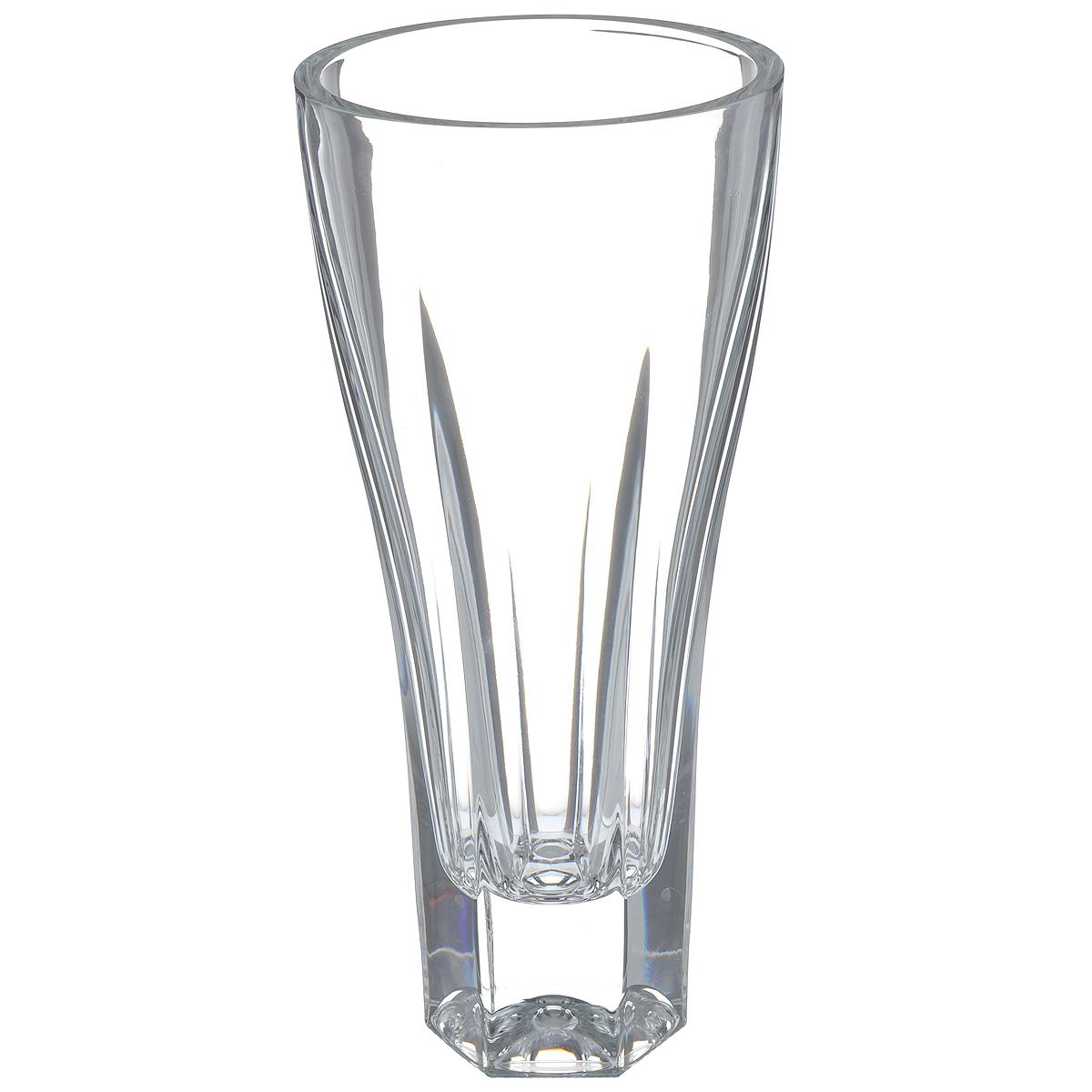 Ваза Crystal Bohemia, высота 30,5 см23900Изящная ваза Crystal Bohemia изготовлена из хрусталя. Ваза оформленарельефным рисунком, что делает ее изящным украшениеминтерьера.Ваза Crystal Bohemia дополнит интерьер офиса или дома и станет желанным истильнымподарком. Высота вазы: 30,5 см.Диаметр вазы (по верхнему краю): 14 см.