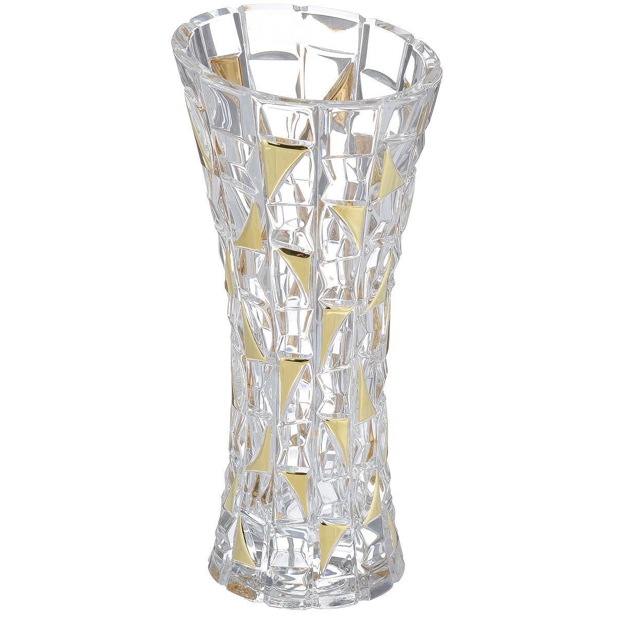 Ваза Crystal Bohemia Patriot Gold, высота 33 см. 990/80218/0/72232/330-109FS-80299Изящная ваза Crystal Bohemia Patriot Gold изготовлена из хрусталя. Ваза оформленарельефным рисунком и вставками золотистого цвета, что делает ее изящным украшениеминтерьера.Ваза Crystal Bohemia Patriot Gold дополнит интерьер офиса или дома и станет желанным истильнымподарком. Высота вазы: 33 см.Диаметр вазы (по верхнему краю): 15 см.