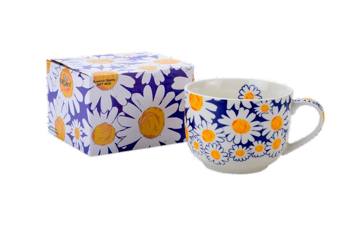 Чашка для супа GiftLand Ромашки, 700 мл