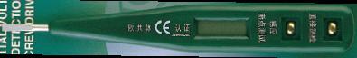 Индикаторная отвертка Sata, с ЖК-дисплеем. 6260180621Индикаторная отвертка Sata - это очень важный инструмент. Она позволяет узнать, где есть напряжение, а где нет. ЖК-дисплей позволяет не только определять наличие напряжения, но и его величину (12, 36, 55, 110, 220V AC & DC). Длина отвертки: 13,5 см.