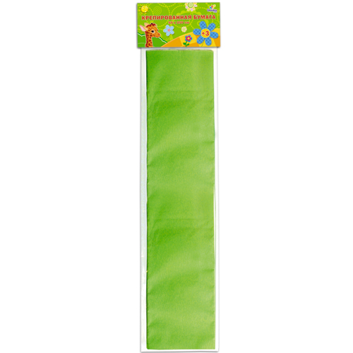 Бумага крепированная Unnikaland, цвет: светло-зеленый72523WDКрепированная бумага Unnikaland отлично подойдет для упаковки хрупких изделий, при оформлении букетов и создании сложных цветовых композиций, для декорирования и других оформительских работ. Бумага обладает повышенной прочностью и жесткостью, хорошо растягивается, имеет жатую поверхность.Кроме того, крепированная бумага такая яркая и необычная, широко применяется для создания всевозможных ручных поделок. Превосходный повод увлечь ребенка квиллингом, развивая интерес к художественному творчеству, эстетический вкус и восприятие. Увеличивая желание делать подарки своими руками, воспитывая самостоятельность и аккуратность в работе, такая бумага поможет вашему ребенку раскрыть свои таланты.
