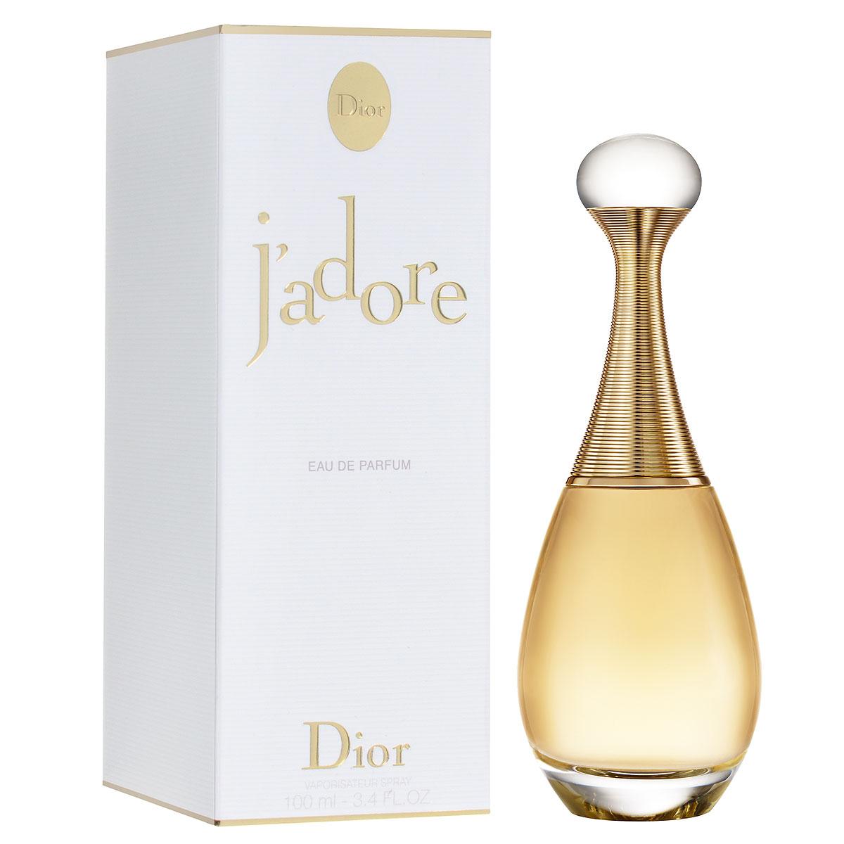 Christian Dior Парфюмерная вода JAdore, женская, 100 мл5010777139655Christian Dior Jadore - абсолютная женственность. Величественный и таинственный аромат. Christian Dior Jadore - чувственный цветочный аромат, передающий радость жизни, открывающий суть женственности. Эссенция бергамота добавляет аромату сладостную свежесть и особую вибрацию цитрусовых нот. Черная роза - основной компонент палитры парфюмера - сердечная нота аромата парфюмерной воды Jadore. Являясь символом женственности, жасмин один из наиболее часто используемых цветов в парфюмерии. Деликатный и нежный он является ароматом сам по себе. Жасмин - это базовая нота аромата парфюмерной воды JAdore.Классификация аромата: фруктовый, цветочный.Верхние ноты: бергамот, персик, дыня, груша.Ноты сердца:черная роза, фиалка, ландыш, фрезия.Ноты шлейфа:жасмин, ваниль, кедр, мускус, сандал.Ключевые слова:Женственный, нежный, сладкий, теплый! Самый популярный вид парфюмерной продукции на сегодняшний день - парфюмерная вода. Это объясняется оптимальным балансом цены и качества - с одной стороны, достаточно высокая концентрация экстракта (10-20% при 90% спирте), с другой - более доступная, по сравнению с духами, цена. У многих фирм парфюмерная вода - самый высокий по концентрации экстракта вид товара, т.к. далеко не все производители считают нужным (или возможным) выпускать свои ароматы в виде духов. Как правило, парфюмерная вода всегда в спрее-пульверизаторе, что удобно для использования и транспортировки. Так что если духи по какой-либо причине приобрести нельзя, парфюмерная вода, безусловно, - самая лучшая им замена. Товар сертифицирован.
