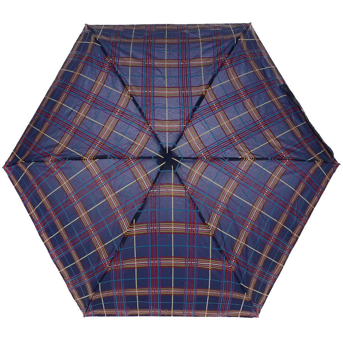 """Зонт женский Fulton Check, механический, 5 сложений, цвет: синийREM12-CAM-GREENBLACKСтильный сверхкомпактный зонт """"Check"""" защитит от непогоды, а его компактный размер позволит вам всегда носить его с собой. """"Ветростойкий"""" плоский алюминиевый каркас в 5 сложений состоит из шести спиц с элементами из фибергласса, зонт оснащен удобной рукояткой из пластика. Купол зонта выполнен из прочного полиэстера синего цвета и оформлен принтом в клетку. На рукоятке для удобства есть небольшой шнурок, позволяющий надеть зонт на руку тогда, когда это будет необходимо. К зонту прилагается чехол.Зонт механического сложения: купол открывается и закрывается вручную, стержень также складывается вручную до характерного щелчка. Характеристики: Материал: алюминий, фибергласс, пластик, полиэстер. Цвет: синий. Диаметр купола: 87 см. Длина зонта в сложенном виде: 15 см. Длина ручки (стержня) в раскрытом виде:50 см.Вес: 158 г. Артикул: L501 3F2618."""