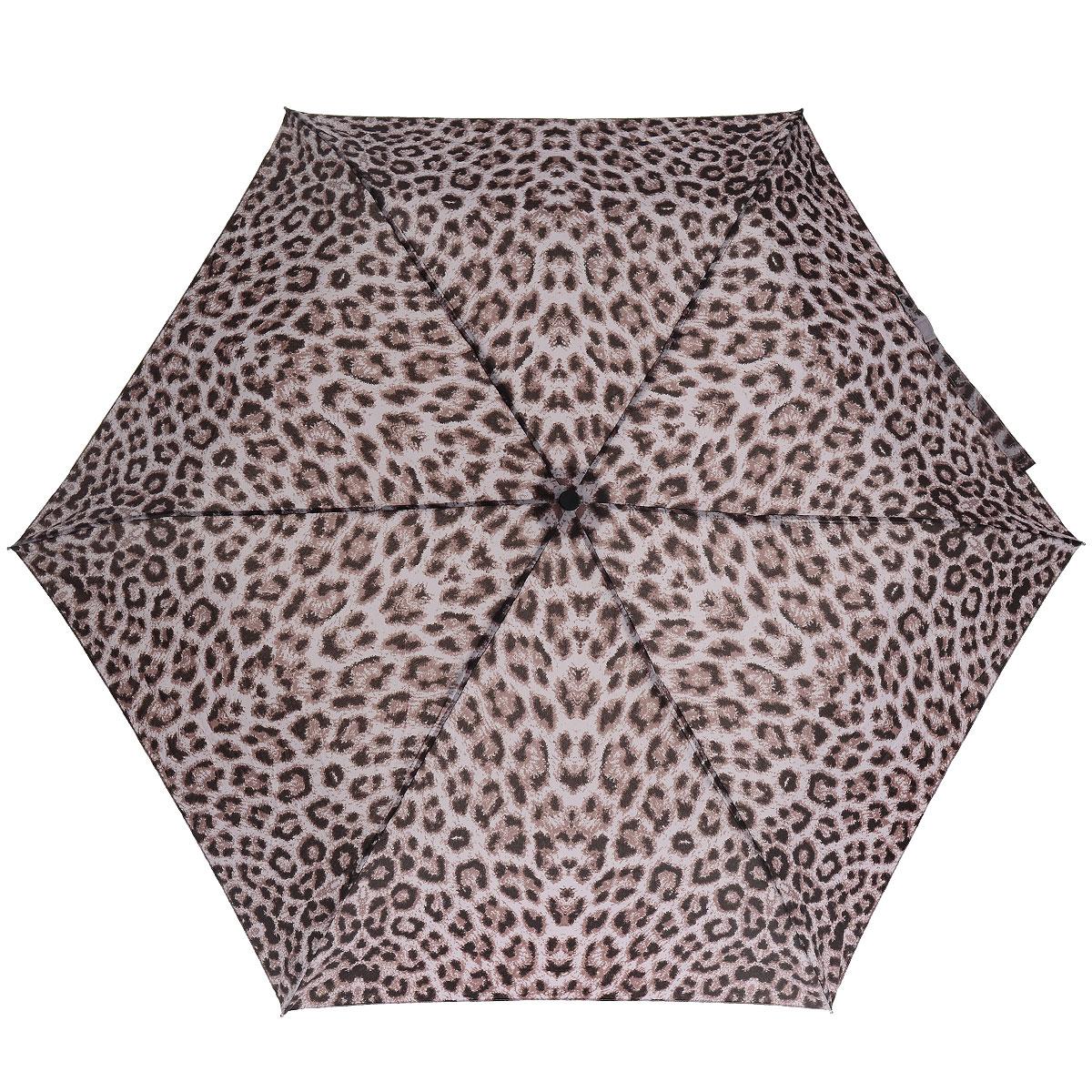 """Зонт женский Fulton Puma Purple, механический, 3 сложения, цвет: темно-розовыйП300020005-20Стильный зонт Fulton """"Puma Purple"""" защитит от непогоды, а его компактный размер позволит вам всегда носить его с собой. """"Ветростойкий"""" алюминиевый каркас в 3 сложения состоит из шести спиц с элементами из фибергласса, зонт оснащен удобной рукояткой из пластика. Купол зонта выполнен из прочного полиэстера и оформлен леопардовым принтом. На рукоятке для удобства есть небольшой шнурок-резинка, позволяющий надеть зонт на руку тогда, когда это будет необходимо. К зонту прилагается чехол на липучке.Зонт механического сложения: купол открывается и закрывается вручную, стержень также складывается вручную до характерного щелчка. Характеристики: Материал: алюминий, фибергласс, пластик, полиэстер. Цвет: темно-розовый. Диаметр купола: 86 см. Длина зонта в сложенном виде: 22 см. Длина ручки (стержня) в раскрытом виде:51 см.Вес: 138 г.Диаметр зонта (в сложенном виде): 3 см.Артикул:L553 3F2626."""