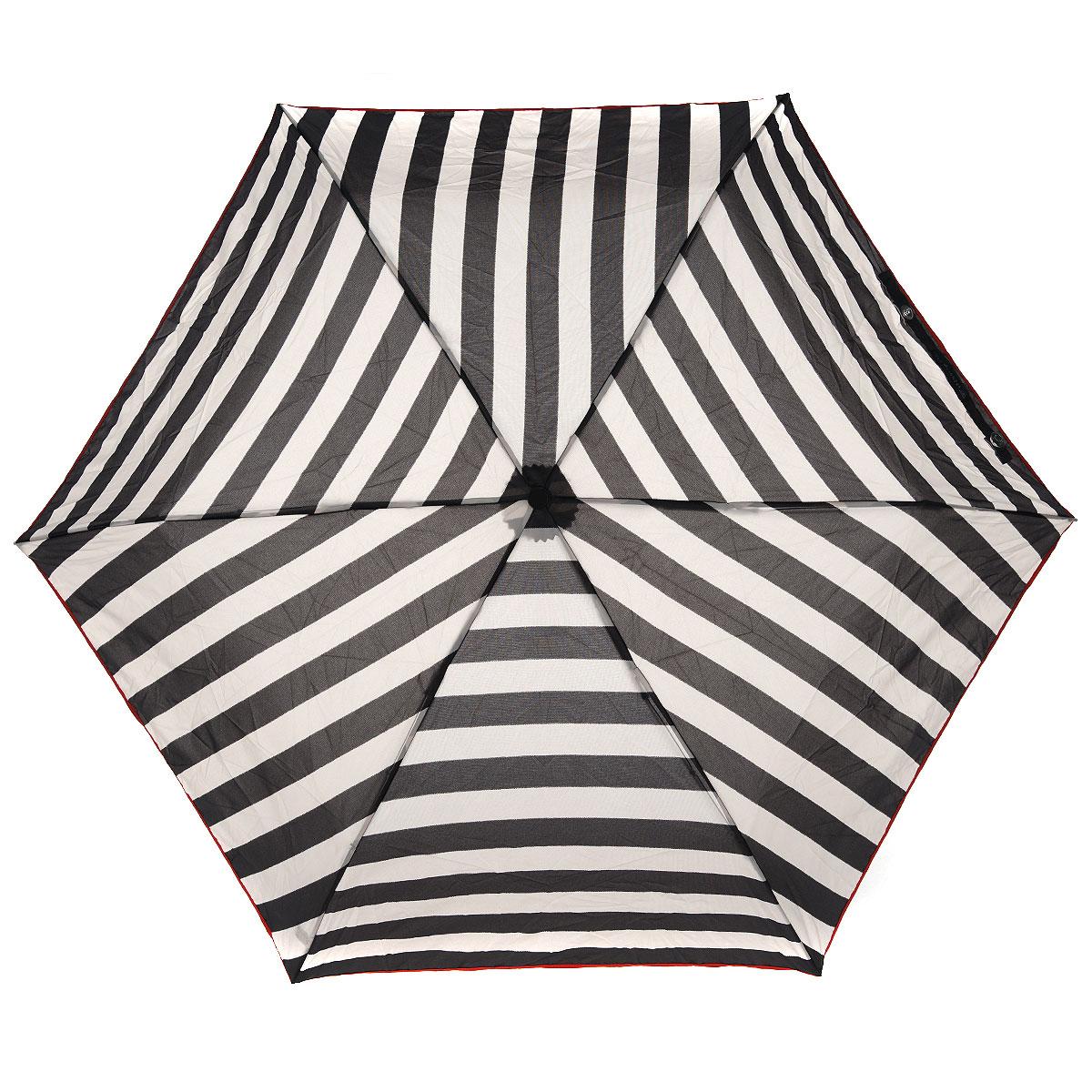 """Зонт женский Fulton Stripe, механический, 3 сложения, цвет: черный, бежевыйREM12-CAM-REDBLACKСтильный компактный зонт Fulton """"Stripe"""" даже в ненастную погоду позволит вам оставаться женственной и элегантной. """"Ветростойкий"""" каркас зонта выполнен из алюминия и состоит из шести спиц с элементами из фибергласса, зонт оснащен удобной рукояткой из пластика. Купол зонта выполнен из прочного полиэстера и оформлен полосатым принтом. На рукоятке для удобства есть небольшой шнурок-резинка, позволяющий надеть зонт на руку тогда, когда это будет необходимо. К зонту прилагается чехол на липучке.Зонт механического сложения: купол открывается и закрывается вручную, стержень также складывается вручную до характерного щелчка.Компактныйзонт диаметром 3 см в закрытом виде. Ветроустойчивый алюминиевый каркас в 3 сложения, 6 спиц с элементами из фибергласса, материал купола - полиэстер, диаметр купола - 86см. Длина зонта в сложенном виде - 22 см. Вес 138 гр. Характеристики: Материал: алюминий, фибергласс, пластик, полиэстер. Цвет: черный, бежевый. Диаметр купола: 86 см. Длина зонта в сложенном виде: 22 см. Длина ручки (стержня) в раскрытом виде:52 см.Диаметр зонта (в сложенном виде): 3 см.Вес: 138 г. Артикул: L718 2S2343."""