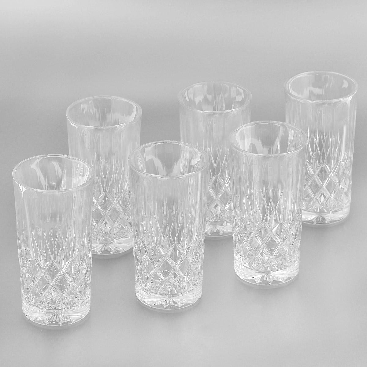 Набор стаканов для воды Crystal Bohemia, 320 мл, 6 штVT-1520(SR)Набор для воды Crystal Bohemia состоит из шести стаканов. Изделия выполнены из прочного высококачественного хрусталя и декорированы рельефом. Они излучают приятный блеск и издают мелодичный звон. Набор предназначен для подачи воды. Набор Crystal Bohemia прекрасно оформит интерьер кабинета или гостиной и станет отличным дополнением бара. Такой набор также станет хорошим подарком к любому случаю. Диаметр по верхнему краю: 7 см.Высота стакана: 14 см.Диаметр основания: 6 см.