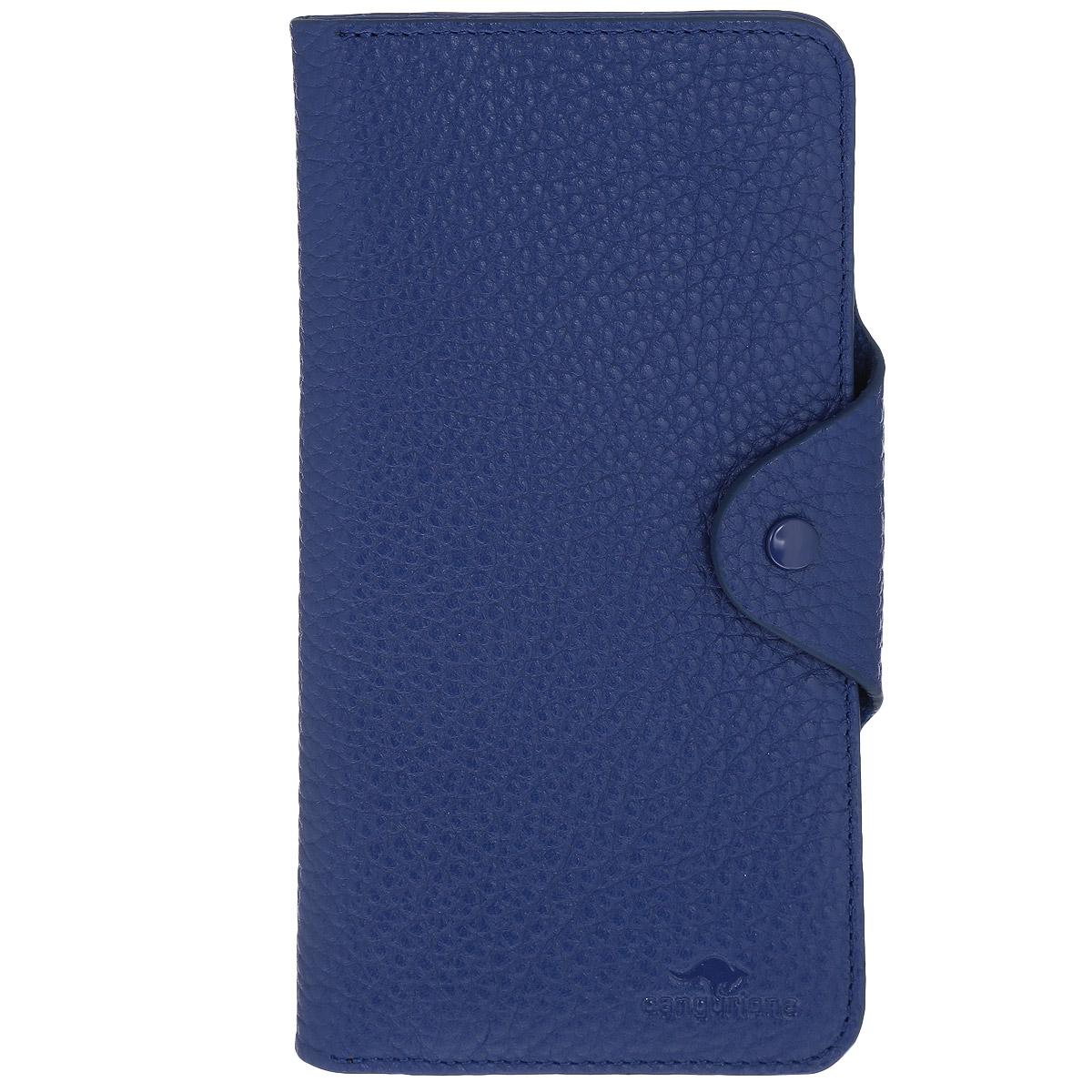 Портмоне Cangurione, цвет: синий. 2103-015 F/Blue1-022_516Мягкое портмоне Cangurione выполнено из натуральной высококачественной кожи с естественной лицевой и внутренней поверхностью. Портмоне имеет 6 отделений для купюр. Также внутри расположены 16 горизонтальных открытых карманов для банковских карт и визиток и 2 горизонтальных открытых кармана с полупрозрачным окошком-сеточкой. Портмоне оснащено клапаном для фиксации бумаг и документов и дополнено внутренним карманом для мелочи на застежке-молнии, которое также можно использовать для хранения купюр. Портмоне надежно закрывается на узкий клапан с кнопкой.Портмоне - это удобный и стильный аксессуар, необходимый каждому активному человеку для хранения денежных купюр, монет, визитных и пластиковых карт, а также небольших документов. Надежное портмоне Cangurione сочетает в себе классический дизайн и функциональность, и не только практично в использовании, но и станет отличным дополнением к любому стилю, и позволит вам подчеркнуть свою индивидуальность.Портмоне упаковано в подарочную коробку с логотипом производителя.