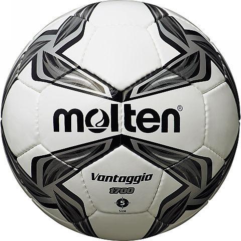 Мяч футбольный Molten, цвет: белый, черный, серый. Размер 5ASE-611FФутбольный мяч Molten отлично подойдет для школьных тренировок или для отдыха. Он выполнен из прочной ПВХ синтетической кожи и сшит вручную. Долговечен, имеет яркий окрас.