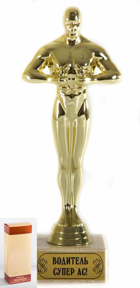 Кубок Оскар Водитель Супер АС!, h24см, картонная коробкаPARIS 75015-8C ANTIQUEФигурка подарочная объемная,с основанием из искусственного мрамора h 24см золотой