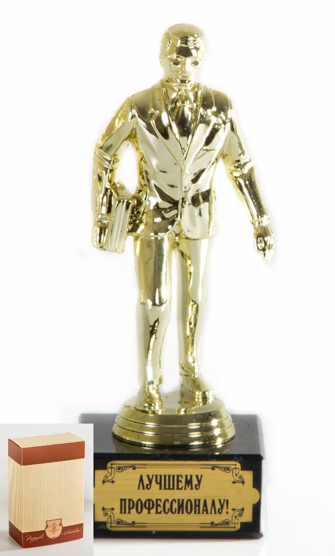 Кубок Руководитель Лучшему профессионалу!, h18см, картонная коробка74-0120Фигурка подарочная объемная,с основанием из искусственного мрамора h 18см золотой