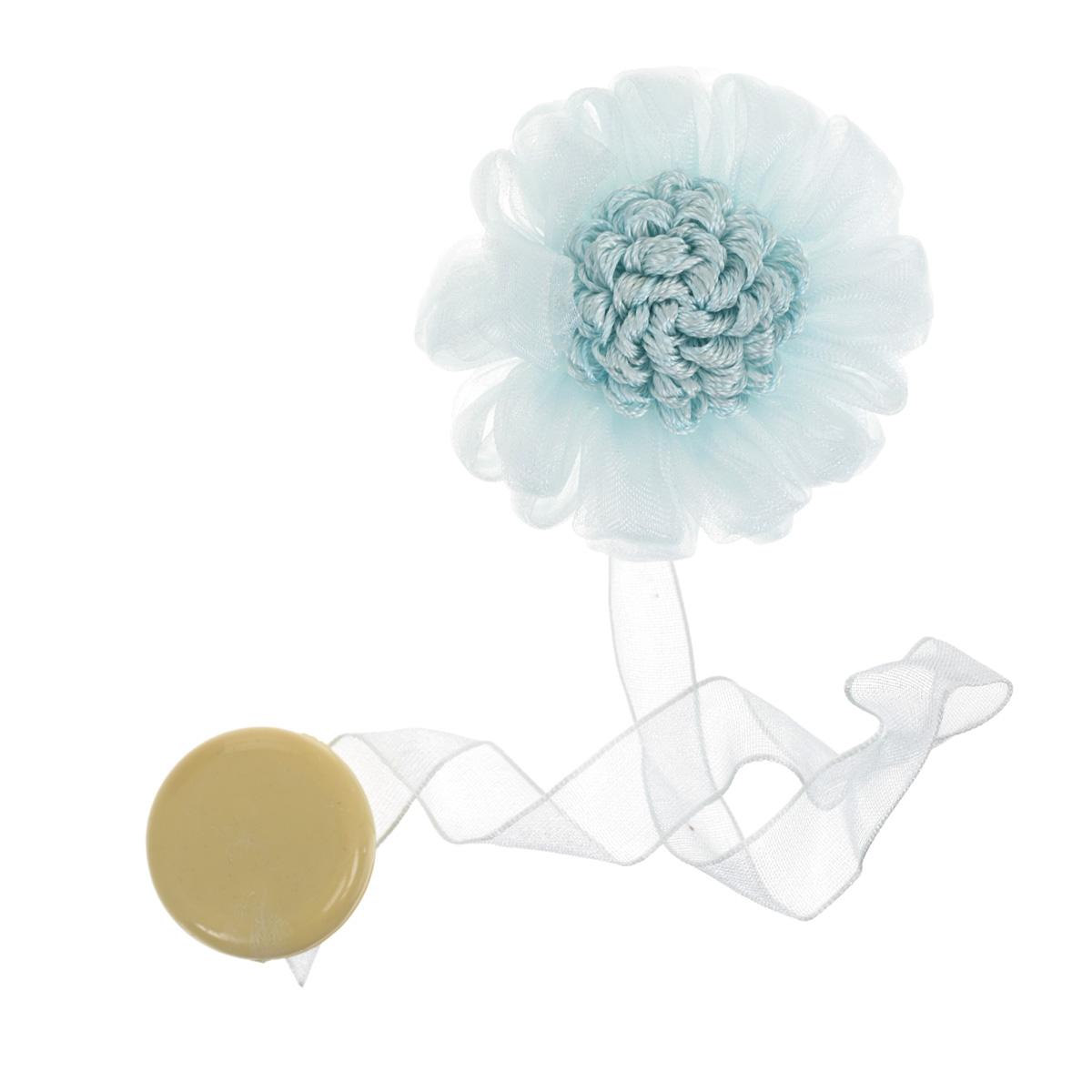 Клипса-магнит для штор Calamita Fiore, цвет: светло-голубой (А827). 7704011_827100-49000000-60Декоративные магнитные клипсы, подхваты Вы можете использовать как держатели для штор или для формирования декоративных складок на ткани