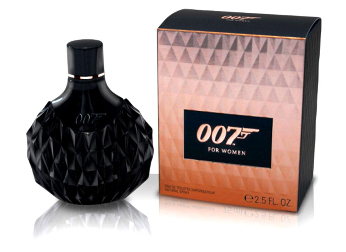 James Bond 007 FOR WOMEN Парфюмерная вода 75 мл1301210Раскрывая сущность девушки Бонда, аромат 007 for Women отражает ее непреодолимую силу обольщения, за которой скрывается решительность и смелость. Утонченная и загадочная, она обладает опьяняющей комбинацией красоты и интеллекта. Насыщенные женственные компоненты аромата подчеркивают страстный темперамент его обладательницы. Верхние ноты открываются насыщенным аккордом острого черного перца и нежной молочной розы, воплощая в себе опасное сочетание риска и чувственности. Сердечные ноты построены вокруг узнаваемого яркого фруктового аккорда ежевики, соединенного с женственной мягкостью цветка жасмина. Богатая чувственная база раскрывается нотами черной ванили, являющейся основным ингредиентом любой восточной ароматической композиции, и изысканного белого мускуса с легким изящным штрихом кедрового дерева.Верхняя нота: Черный перец, молочная роза.Средняя нота: ежевика, жасмин.Шлейф: Ваниль, Мускус.Уникальная интерпретация восточной ароматической композиции позволила создателям воплотить в нем неповторимую женственность и загадочность.Дневной и вечерний аромат.