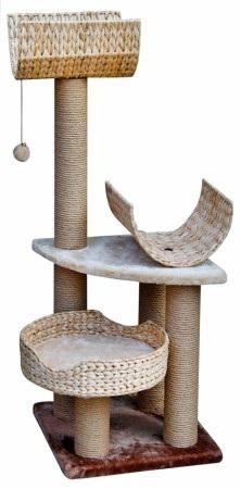 Игровая площадка для кошек Fauna Pallucco, цвет: бежевый, 40 см х 40 см х 98 см0120710Многофункциональная игровая площадка Fauna Pallucco обязательно понравится вашей кошке и станет ее излюбленным местом для отдыха и игр. Площадка изготовлена из ДВП и обтянута мягким плюшевым текстилем. Имеет три уровня: плетеную корзинку и два лежака с загнутыми краями. Для игр предусмотрена подвесная игрушка на веревке, а чтобы поточить когти - столбики-когтеточки. В корзинку кошка может забраться, чтобы спрятаться и поспать, а лежаки станут прекрасным местом для развлечений и наблюдением за происходящим. Оригинальный дизайн прекрасно впишется в интерьер вашего дома. Игровые площадки Fauna созданы с любовью, вниманием и заботой о ваших кошках. Этим пушистым непоседам нравится играть и прыгать, забираться повыше, точить когти, прятаться в укромных местах и сладко спать в теплых уютных домиках. Компания Fauna International представляет новую серию современных игровых площадок для веселых игр и сладких снов!