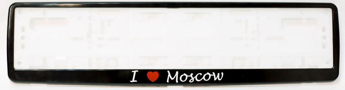 Рамка под номер I Love Moscow, 53 х 13 смВетерок 2ГФРамка под номер I Love Moscow предназначена для крепления регистрационного знака российского и европейского образца. Устанавливается на все типы автомобилей. Изготовлена из полипропилена, лицевая панель выполнена из ABS-пластика. Оригинальная надпись I Love Moscow выделит вашу машину на дороге и подчеркнет вашу индивидуальность.