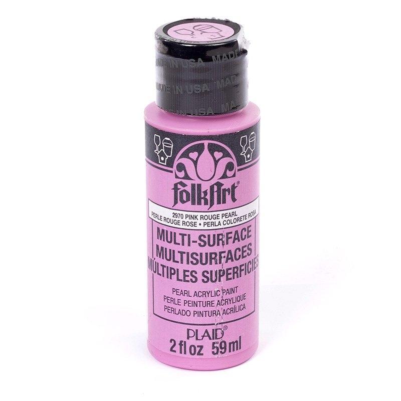 Краска акриловая FolkArt Multi-Surface Pearl, цвет: перламутровый розовый (2970), 59 млFS-00897Краска акриловая FolkArt Multi-Surface Pearl - это прочная погодоустойчивая сатиновая краска с перламутровым отливом. Не токсична, на водной основе. Предназначена для различных видов поверхностей: стекло, керамика, дерево, металл, пластик, ткань, холст, бумага, глина. Идеально подходит как для использования в помещении, так и для наружного применения. Изделия, покрытые такой краской, можно мыть в посудомоечной машине в верхнем отсеке. Перед применением краску необходимо хорошо встряхнуть. Краски разных цветов можно смешивать между собой. Перед повторным нанесением краски дать высохнуть в течении 1 часа. До высыхания может быть смыта водой с мылом.