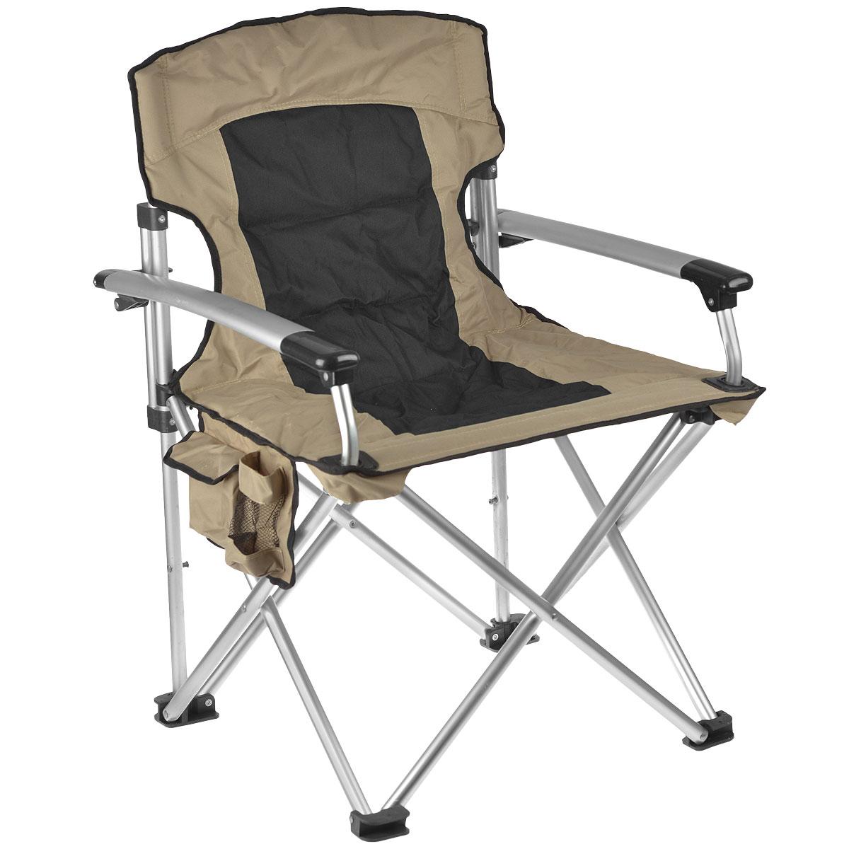 Кресло складное  Happy Camper , цвет: серый (чехол бежевый/серый) - Складная и надувная мебель