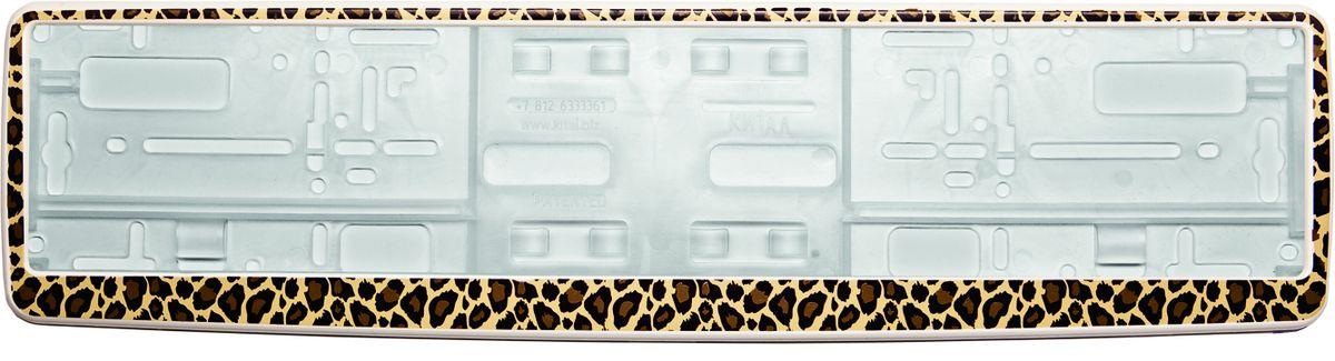 Рамка под номер ЛеопардA78114SРамка Леопард не только закрепит регистрационный знак на вашем автомобиле, но и красиво его оформит. Основание рамки выполнено из полипропилена, материал лицевой панели - пластик.Она предназначена для крепления регистрационного знака российского и европейского образца, декорирована принтом. Устанавливается на все типы автомобилей. Крепления в комплект не входят.Стильный дизайн идеально впишется в экстерьер вашего автомобиля.Размер рамки: 53,5 см х 13,5 см. Размер регистрационного знака: 52,5 см х 11,5 см.