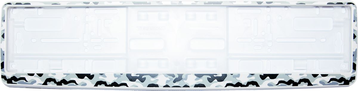 Рамка под номер Камуфляж94672Рамка Камуфляж не только закрепит регистрационный знак на вашем автомобиле, но и красиво его оформит. Основание рамки выполнено из полипропилена, материал лицевой панели - пластик.Она предназначена для крепления регистрационного знака российского и европейского образца. Устанавливается на все типы автомобилей. Крепления в комплект не входят.Стильный дизайн идеально впишется в экстерьер вашего автомобиля.Размер рамки: 53,5 см х 13,5 см. Размер регистрационного знака: 52,5 см х 11,5 см.