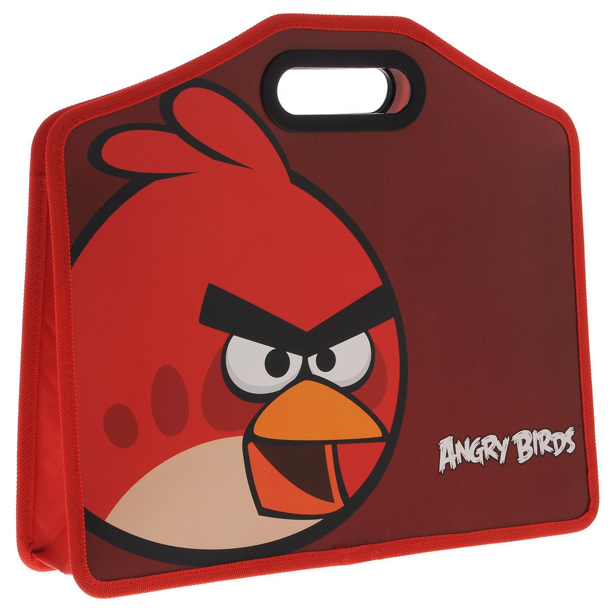 Папка-портфель Centrum Angry Birds, формат А4FS-36054Папка-портфель Angry Birds станет вашим верным помощником дома и в школе. Это удобный и функциональный инструмент, предназначенный для хранения и транспортировки бумаг формата А4, а также тетрадей и канцелярских принадлежностей.Папка изготовлена из износостойкого высококачественного пластика и состоит из одного вместительного отделения. Края папки обшиты полиэстером, а уголки закруглены для обеспечения дополнительной прочности и сохранности опрятного вида папки. Папка оснащена двумя удобными пластиковыми ручками и оформлена изображением героя знаменитой игры Angry Birds - красной птицы.Папка - это незаменимый атрибут для любого студента или школьника. Такая папка надежно сохранит ваши бумаги и сбережет их от повреждений, пыли и влаги, а любимые герои обязательно поднимут настроение!
