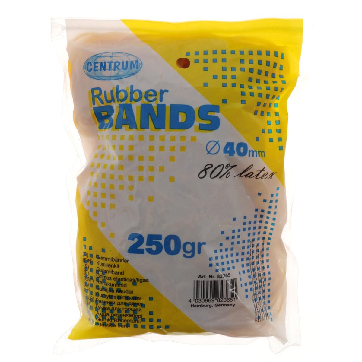 """Банковские резинки """"Centrum"""" предназначены для перетягивания денежных купюр, пакетов, пластиковых карт, бумаг и визиток. Они изготовлены из каучука желтого цвета с латексом, благодаря чему их не так легко порвать, даже если сильно растянуть."""