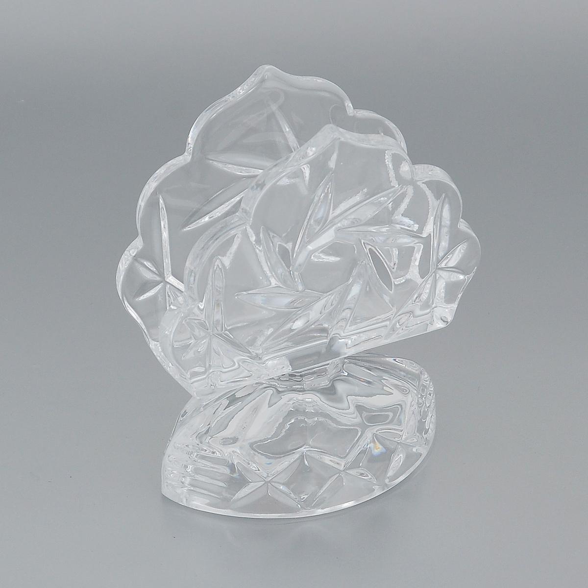 Салфетница Crystal Bohemia, 9,5 х 6 х 12,5 см115510Салфетница Crystal Bohemia изготовлена из высококачественного хрусталя и декорирована рельефом. Она сочетает в себе изысканный дизайн и лаконичность и прекрасно подойдет для декора интерьера дома. Кроме того - это отличный вариант подарка для ваших близких и друзей.