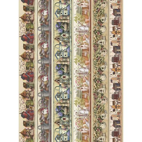 Рисовая бумага для декупажа Craft Premier Бордюры. Домики, 28 х 38 см craft premier 28 2 38 4
