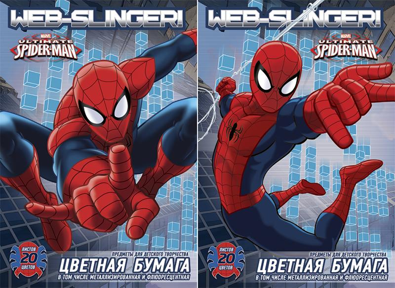 Цветная бумага Spider-Man Web-Slinger, металлизированная, флуоресцентная, 20 цветов72523WDЦветная бумага Spider-Man Web-Slinger позволит вашему ребенку создавать всевозможные аппликации и поделки.Набор состоит из 10 листов обычной бумаги, 5 листов металлизированной бумаги и 5 листов флуоресцентной бумаги. Цвета: серебро, золото, голубой металлизированный, зеленый металлизированный, розовый металлизированный, желтый флуоресцентный, оранжевый флуоресцентный, салатовый флуоресцентный, голубой флуоресцентный, розовый флуоресцентный, желтый, красный, пурпурный, зеленый, голубой, фиолетовый, коричневый, черный, темно-синий, вишневый. Бумага упакована в две картонные папки, оформленные рисунком с изображением человека-паука.Создание поделок из цветной бумаги поможет ребенку в развитии творческих способностей, кроме того, это увлекательный досуг.
