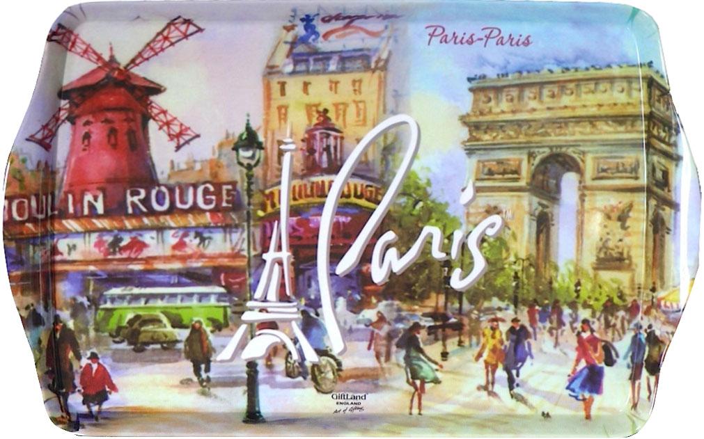 Поднос сервировочный GiftLand Париж-Париж, 38,8 x 24 см115510Прямоугольный поднос GiftLand Париж-Париж выполнен из высококачественного, жаропрочного пластика и украшен изображением Парижа. Красочный дизайн подноса придаст оригинальность и яркость любой кухне или столовой. Такой поднос станет незаменимым предметом для сервировки стола. Компактный поднос предохранит поверхность стола от грязи и перегрева. Изделие устойчиво к высоким температурам. Можно мыть в посудомоечной машине. Можно использовать в микроволновой печи. Размер подноса: 38,8 см x 24 см. Высота подноса: 2,2 см.