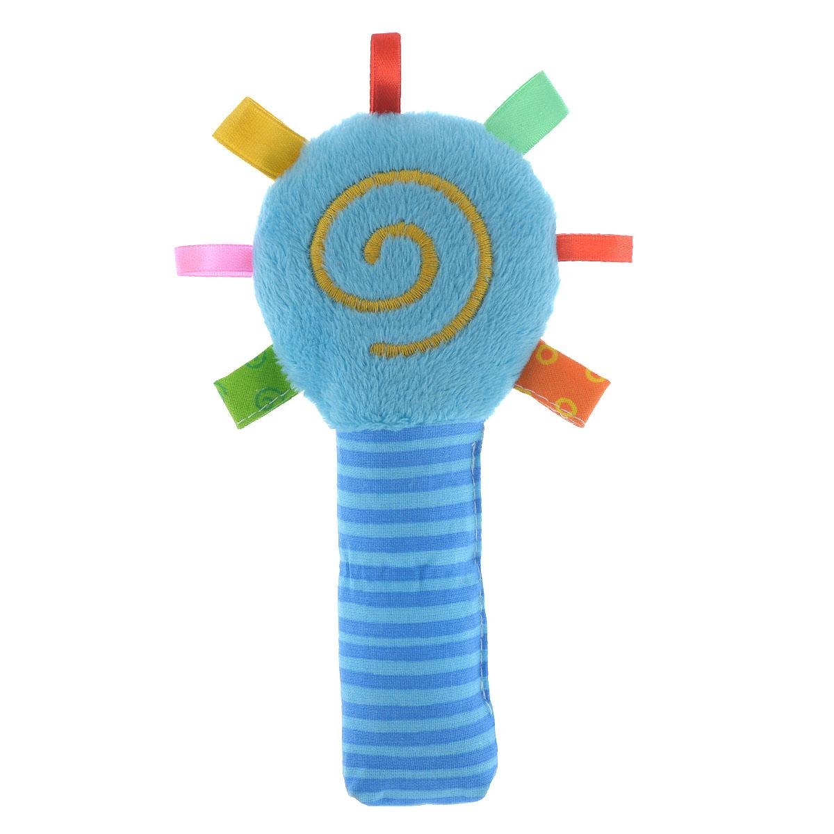 """Погремушка Мякиши """"Маракас"""" выполнена из мягкого текстильного материала разных цветов и фактур в виде маракаса, оформленного вышитой спиралькой. Внутри круглой части, украшенной текстильными петельками, находится погремушка; в ручке спрятан шуршащий элемент. Форма погремушки удобна для маленьких ручек ребенка. Он сможет ее держать, трясти и перекладывать из одной ручки в другую. Яркая погремушка Мякиши """"Маракас"""" поможет малышу в развитии цветового и звукового восприятия, концентрации внимания, мелкой моторики рук, координации движений и тактильных ощущений. УВАЖАЕМЫЕ КЛИЕНТЫ! Обращаем ваше внимание на возможные изменения в дизайне, связанные с цветовым ассортиментом продукции. Поставка осуществляется в зависимости от наличия на складе."""