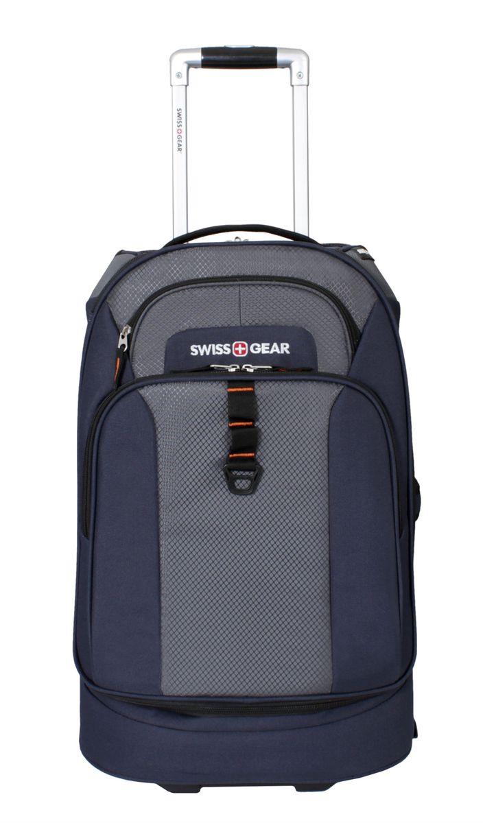 Сумка на колесах SwissGear, цвет: синий, серый, 38 лГризлиСтильная сумка на колесах Swissgear подойдет для современных и мобильных людей. Она выполнена из полиэстера и имеет одно вместительное основное отделение на застежке-молнии, внутри фиксирующие ремни, а также сетчатый карман. На лицевой стороне расположено 2 кармана на застежке-молнии.Особенности:Алюминиевая ручка с фиксатором позволяет легко и удобно перемещать багаж.Прочные ручки, расположенные на боковой и верхних частях изделия, позволяют без усилий поднимать и перевозить чемодан.Встроенные легко вращающиеся колеса обеспечивают максимальную стабильность и маневренность багажа.Внешний карман на молнии для хранения мелких предметов.По всем вопросам гарантийного и постгарантийного обслуживания рюкзаков, чемоданов, спортивных и кожаных сумок, а также портмоне марок Wenger и SwissGear вы можете обратиться в сервис-центр, расположенный по адресу: г. Москва, Саввинская набережная, д.3. Тел: (495) 788-39-96, (499) 248-56-56, ежедневно с 9:00 до 21:00. Подробные условия гарантийного обслуживания приведены в гарантийном талоне, поставляемым в комплекте с каждым изделием. Бесплатный ремонт изделий производится при условии предоставления гарантийного талона и товарного/кассового чека, подтверждающего дату покупки.